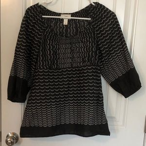 LOFT babydoll blouse